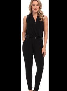 Michael Kors black belted jumpsuit